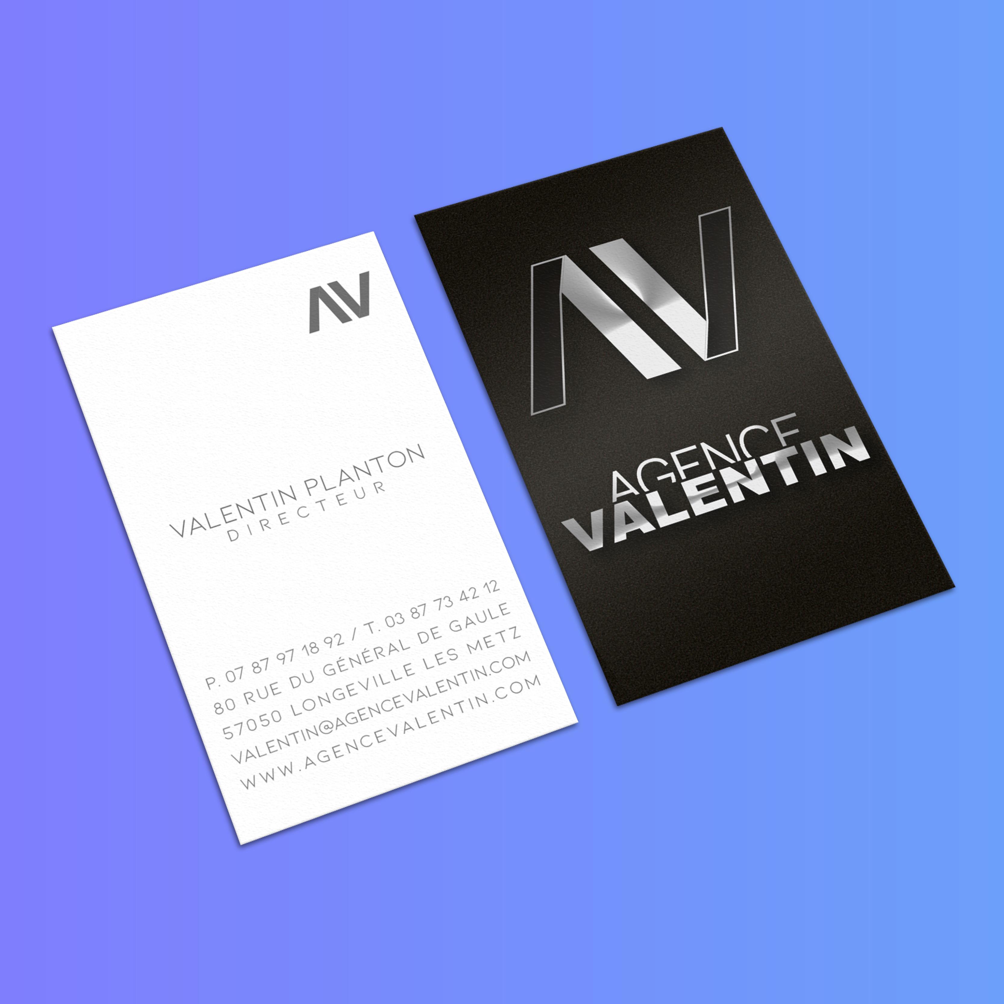 Carte de visite Agence Valentin