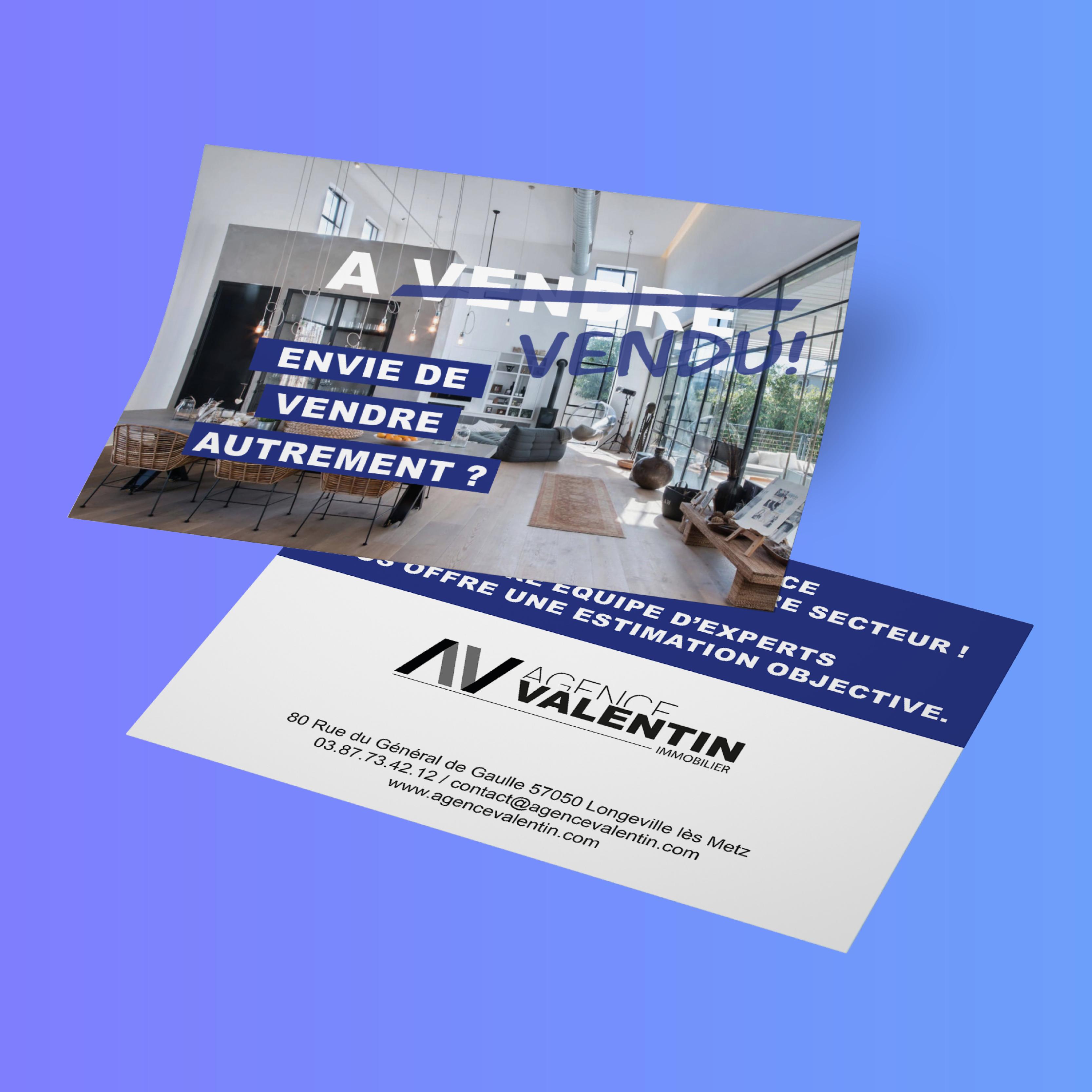 Flyer Agence Valentin