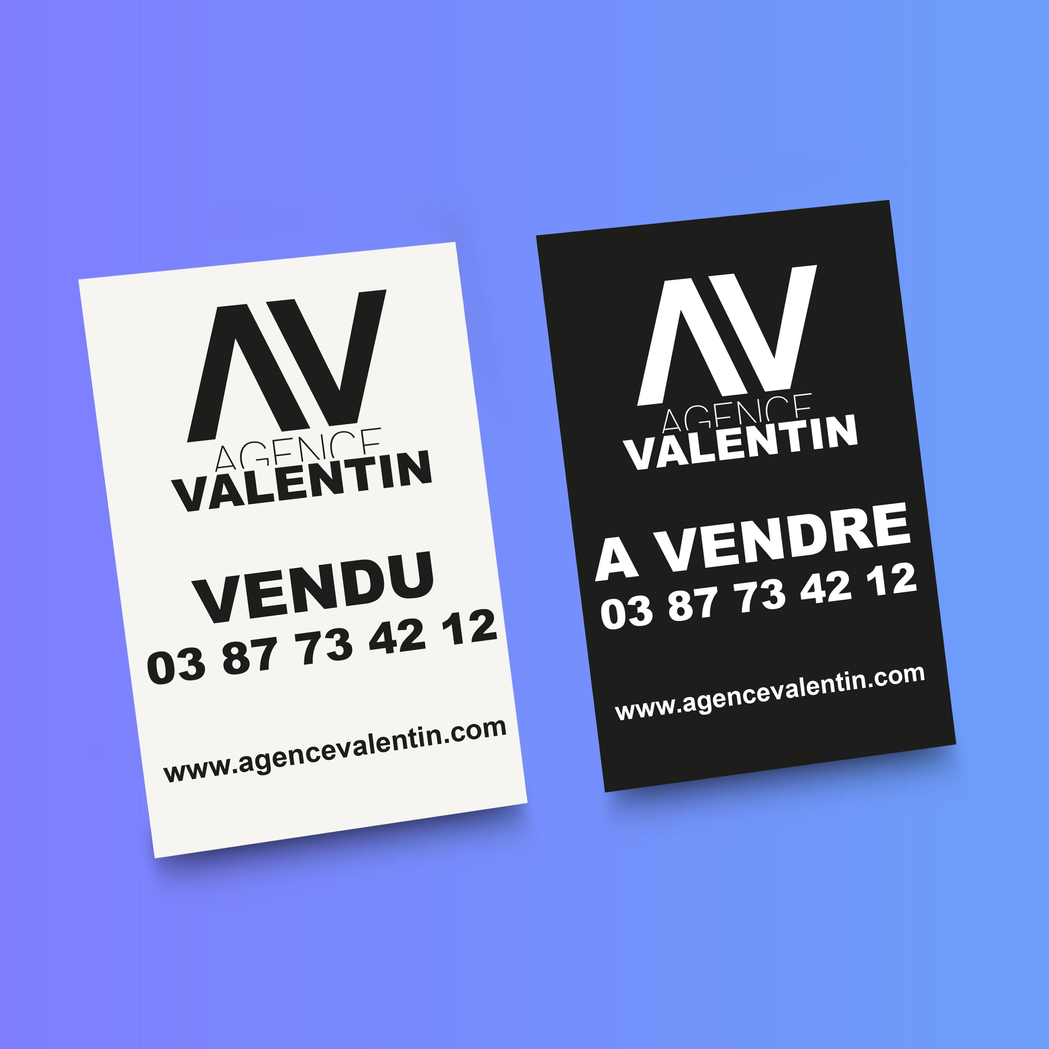 Pancartes Agence Valentin