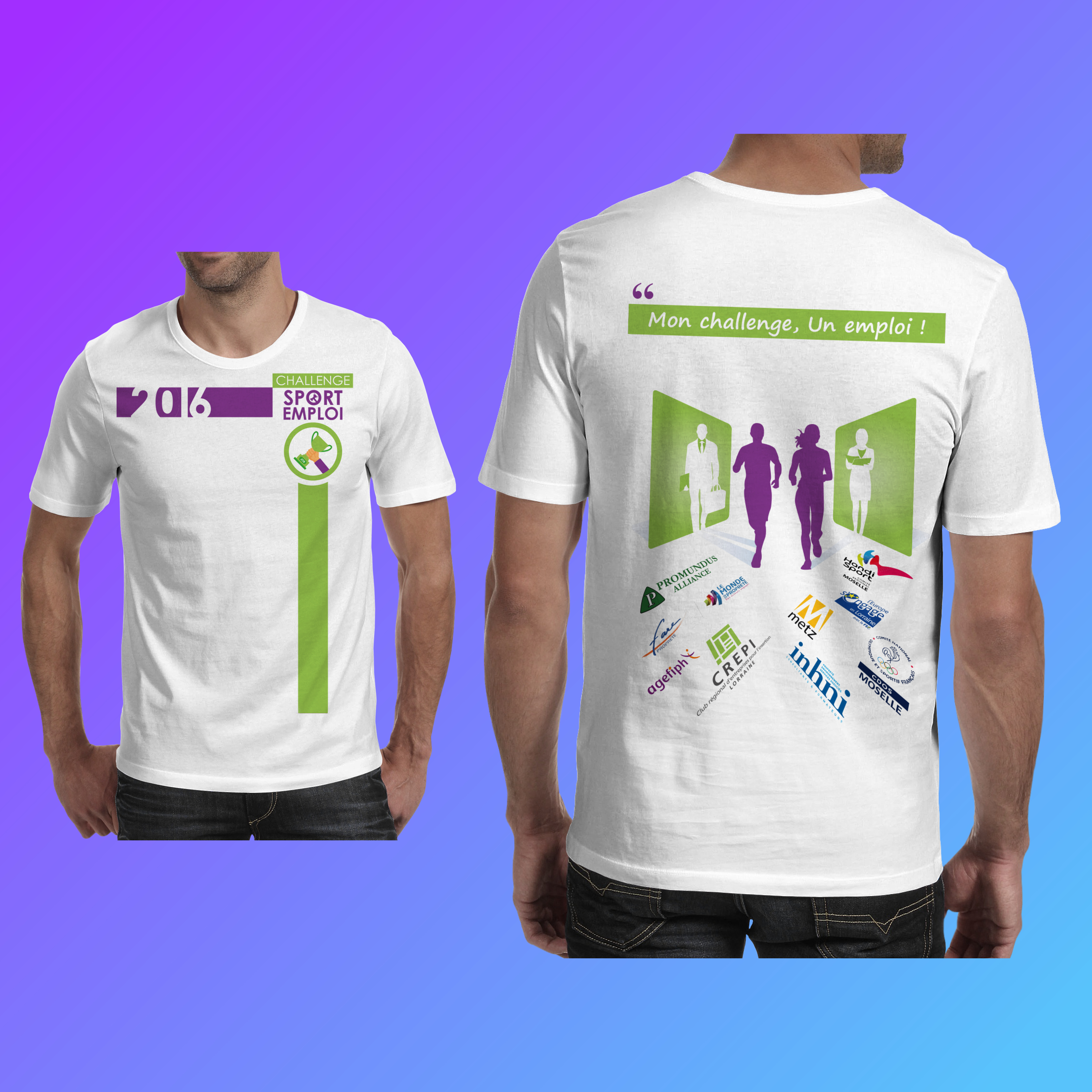 Tee-shirt Challenge sport emploi